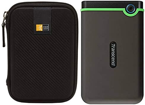 Transcend 2TB StoreJet 25M3 Anti Shock Rugged Portable External Hard Drive Iron Gray Compact product image