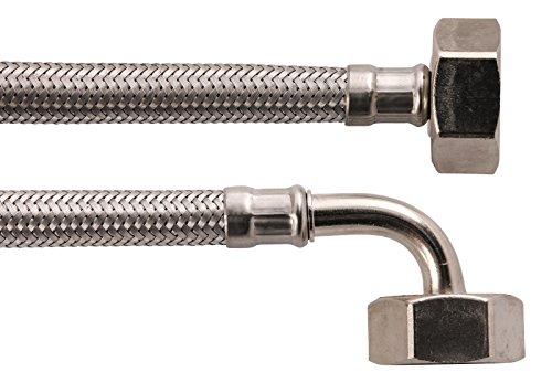 Sanitop-Wingenroth 17216 5 Geräteanschluss-Zuflaufschlauch für Wasch- und Spülmaschinen, 1/2 x 2000 mm, Edelstahl-1/2 Zoll x 2000 mm