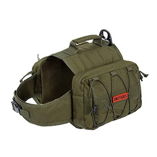 OneTigris Mammoth Hunderucksack Reißen Camping Wandern Hundebackpack für S/M/L Größe Hunde |MEHRWEG Verpackung