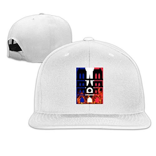 DAIAII Herren Baseball Caps,Hüte, Mützen, Classic Baseball Cap, Notre Dame Cathedral Paris Fire France Women's Men's Adjustable Plain Baseball Cap Trucker Cap