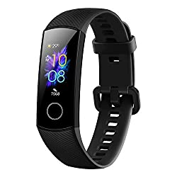 HONOR Band 5 (MeteoriteBlack)- Waterproof Full Color AMOLED Touchscreen, SpO2 (Blood Oxygen), Music Control, Watch Faces Store, up to 14 Day Battery Life,GOERTEK INC,CRS-B19s