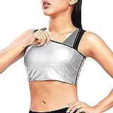 MATEHOM Women Sauna Sweat Vest Waist Trainer Polymer Slimming Workout Sauna Tank Top Shapewear for Weight Loss (S/M)