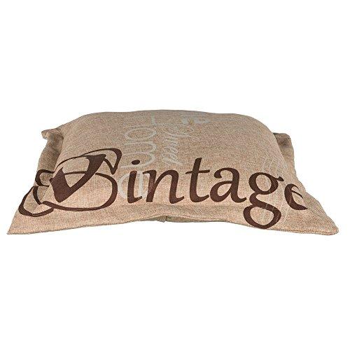 Cojín Vintage, 60× 60cm, Color marrón