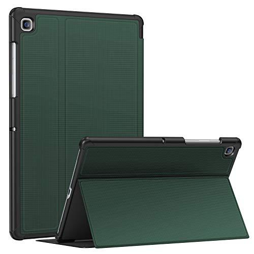 Soke Funda para Samsung Galaxy Tab S5e 10.5 (SM-T720/T725), Premium TPU Folio, antigolpes, función de encendido y apagado automático para Samsung Tab S5e 10.5 pulgadas 2019 Tablet Color Verde Oscuro