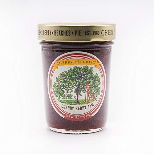 Cherry Republic Cherry Berry Jam - Generous Chunks of Michigan Tart Cherries - 9 oz Jar