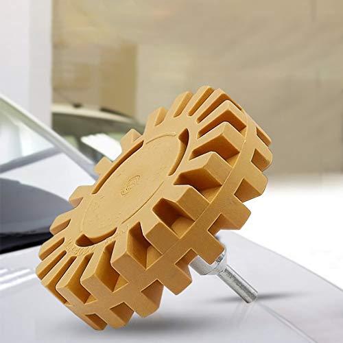 YanHui-LZC Rueda de Goma neumática de 4 Pulgadas Universal Rueda de Goma Retirar el Pegamento Adhesivo de Pegamento de Coches Reparación automática Herramienta de Pintura Polaco Limpiador Auxiliar