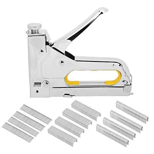 Rahmenhefter, Einhandhefter Manueller Nagler Handbetriebenes Nagelwerkzeug Hardware-Zubehör 3-Use Silver