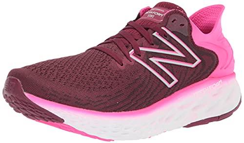 New Balance Women's Fresh Foam 1080 V11 Running Shoe, Garnet/Pink Glo, 8