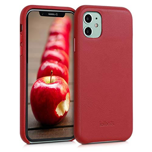 kalibri Schutzhülle kompatibel mit Apple iPhone 11 - Hülle Leder - Hardcover Handy Cover Hülle Rot