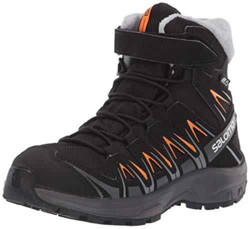 Salomon XA Pro 3D Winter TS CSWP J, Calzado de Invierno Unisex Niños, Negro/Naranja (Black/Magnet/Tangelo), 35 EU