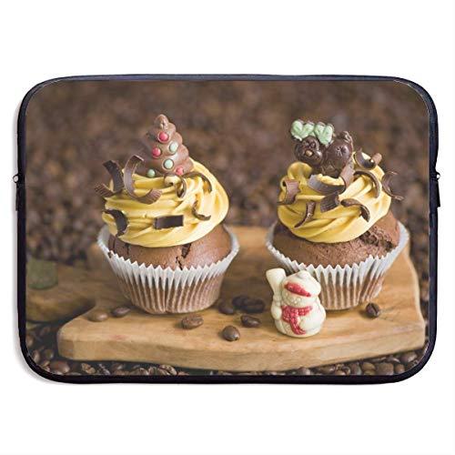 Laptop-Hülle Zwei köstliche kleine Kuchen Notebook-Tasche Laptop-Umhängetasche Schutz 15 Zoll