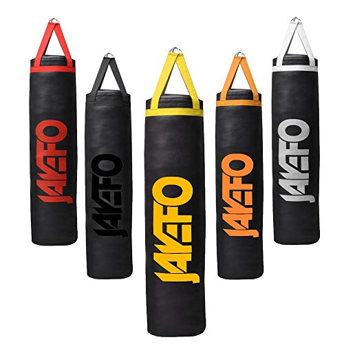 Jayefo Trexter Heavy Punching Bag 6-5-4 FT 10 Year Warranty Muay Thai Heavy Bag Boxing MMA Fitness Workout Training Kick Boxing Punching Banana Bag (Yelllow, 6FT)