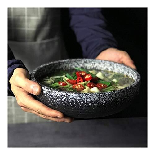 Tazón de cerámica japonesa con esmalte de nieve tazón de ensalada de frutas tazón de sopa tazón creativo hogar retro tazón de gres vajilla
