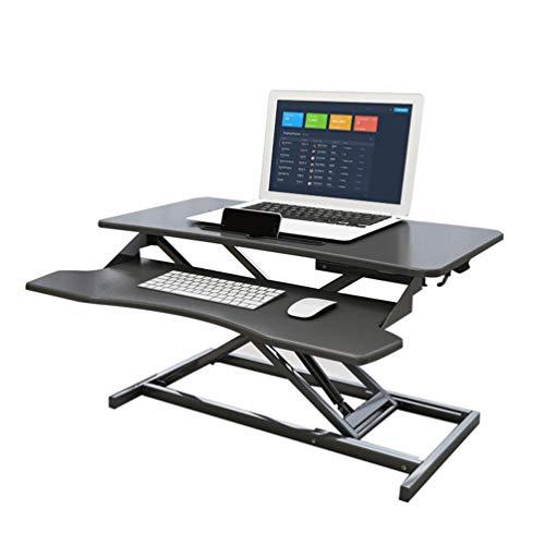 LeiQuanQuan Aufrechtes Sitzen Desktop-Wandler, Einstellbar Auf Jede Höhe Ergonomische Desktop-Bank, PC Computer-Bildschirm, Tastatur, Laptop Lift