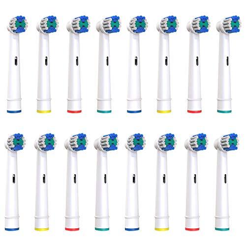 Softmate Aufsteckbürsten Ersatzbürsten kompatibel mit Oral B elektrische Zahnbürsten, 16 Stück