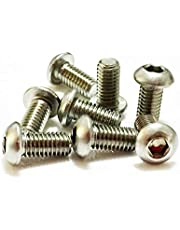 """1/4 """"x 1/2"""" lange UNC Socket Button Bolts A2 roestvrij staal 10,9 Pack van 4 (ANSI B18.3)"""
