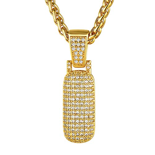 GoldChic Collar Baloncesto Numero 1 eslabones Oro Colgante y Cadena Hombre Jugador Futbol