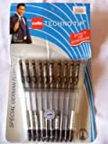 techno tip pens - 10 Cello Technotip PEN Top Ball Point 0.6 mm Smooth Writing Black Brand Ad By Indian Cricketer Mahindera Singh Dhoni Lot of 10 Pens