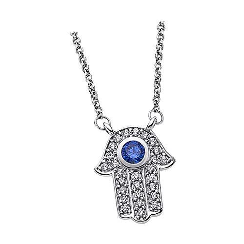 Lotus Collar de plata con circonitas LP1863-1/1, plata 925, mano de Fátima, D1JLP1863-1-1, joya para el cuello de Lotus Silver