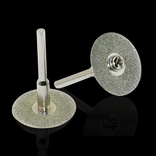 Tivivose Herramienta for la FOR Dremel for la Placa de Micro-Corte Montar la Rueda de Diamante Rotory Diamante de Disco giratoria de molienda Hojas de Sierra Circular for el (Size : 30mm)