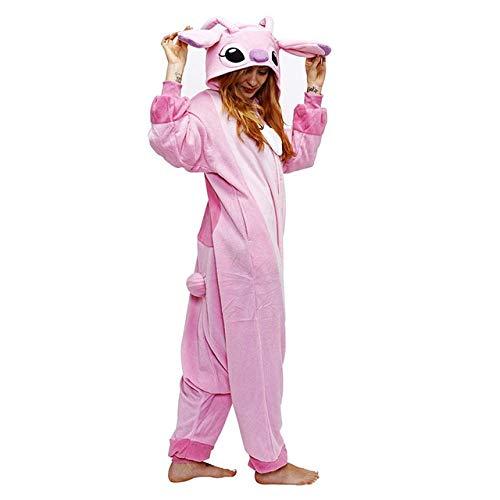 JBDGNZ Pijama para Mujer, Pijama de Oso Animal de Dibujos Animados, Ropa de hogar, Polar, Franela, Parejas para Pijamas, Mono de Cosplay de Halloween, Caqui, L