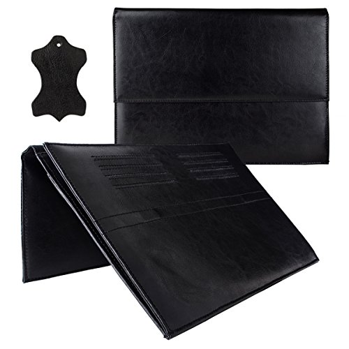 eFabrik Ledertasche für TrekStor SurfTab wintron 10.1 3G (10,1 Zoll) Volks-Tablet pro Tasche Schutz Hülle Cover Sleeve Zubehör (Leder, Schwarz)
