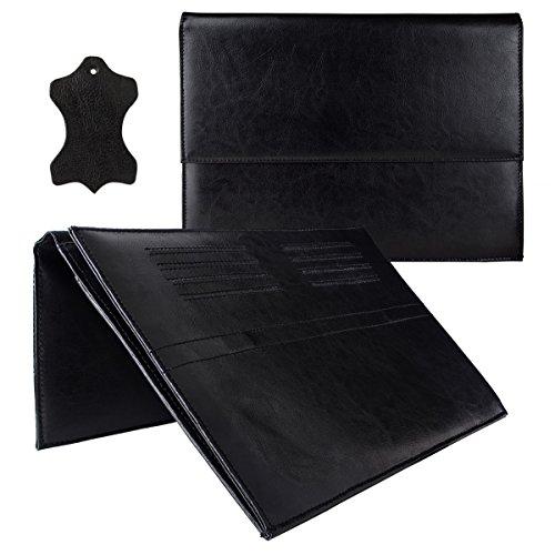 eFabrik Leder Tasche für Acer Switch Alpha 12 Schutz Hülle Cover Sleeve, Farbe:Schwarz