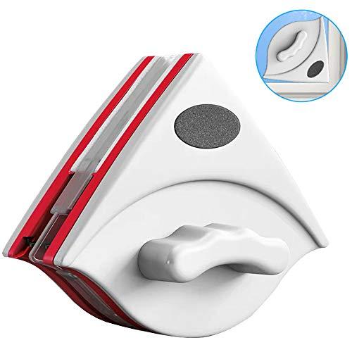 EasyULT Herramientas de Ventanas de Doble Cara con Superficie Magnético, Cepillo de Vidrio de Doble Lado, para Ventanas de Gran Acristalamiento de 15-24mm de Grosor, con Cuerda Anti-caída