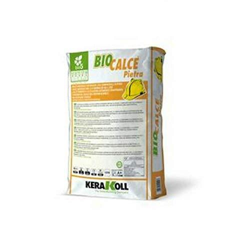 Malta naturale eco-compatibile traspirante per murature 25Kg Biocalce Pietra Art.11029 Kerakoll