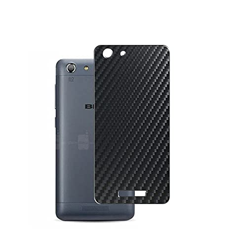 VacFun 2 Piezas Protector de pantalla Posterior, compatible con BLU Energy X 2 x2 2016, Película de Trasera de Fibra de carbono negra Skin Piel