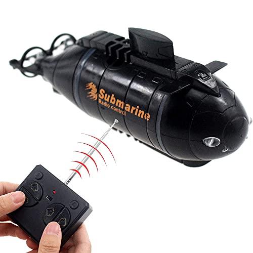 YUMOYA Control remoto Submarino RC Submarino Modelo de Control Remoto Juguete Recargable Electrónico Impermeable Juguete de Buceo Para Regalo Infantil Adecuado Para Piscina Tanque de Peces