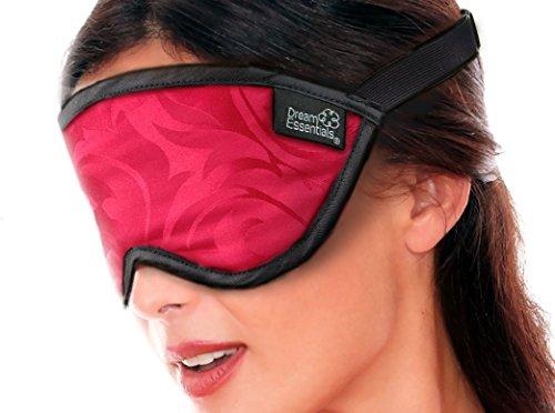 Dream Essentials Schlafmaske aus Seide, hochwertig, Rot