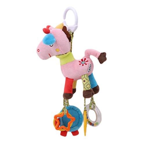 Underleaf Rosa Fawn Plüsch Bett Hängenden Kinderwagen Anhänger Spielzeug Bildung Spielzeug für Baby Kinder Kleinkind Lernen Spielen Werkzeuge