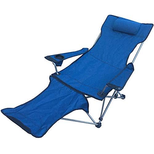 Lefran Komfortabel Liegestuhl Mit Getränkehalter,Tragbarer Liegestuhl Stuhl Für Outdoor-aktivitäten,Klappbar Camping Stuhl Mit Fußstütze D