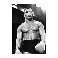 Suuyar マイクタイソンボクシングは、重い重量のチャンピオンのポスターとリビングルームのホームベッドルームのキャンバスに壁のアートプリントを印刷します-20X28インチX1フレームレス