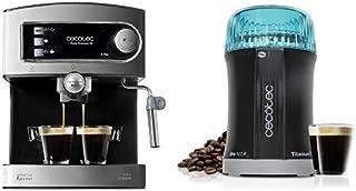 Cecotec Power Espresso 20 Cafetera Express Manual, 850 W, Presión 20 Bares, Depósito de 1,5L+Molinillo de Café y Especias ...