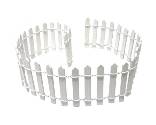 Miniature Fairy Garden White Wood Picket Fence, 18' by 2'