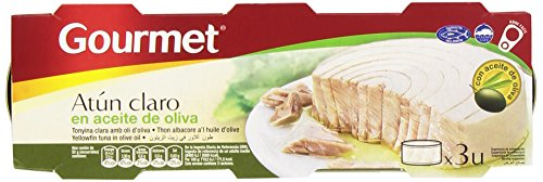 Gourmet Atún Claro en Aceite de Oliva - Pack de 3 x 52 g - Total: 156 g