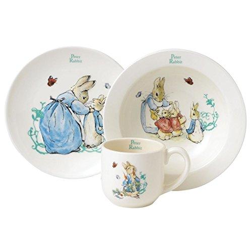 Beatrix Potter Peter Rabbit 3 Piece Nurse Set, Cearth, Bunt, 0.1 x 0.1 x 1.85 cm