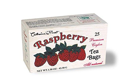 All Natural Premium Ceylon Tea in Wooden Box (Raspberry)