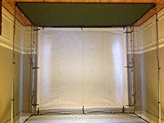 Spectrum Golf Hitting Cage 10 x 10 x 10 3/4 inch with net and 9 x 9 Screen