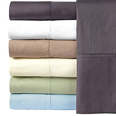 Royal Hotel Silky Soft Bamboo Queen Cotton Sheet Set - Charcoal