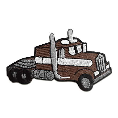camion Truck enfants - Ecusson thermocollant patches appliques, Taille: 10,9 x 7 cm