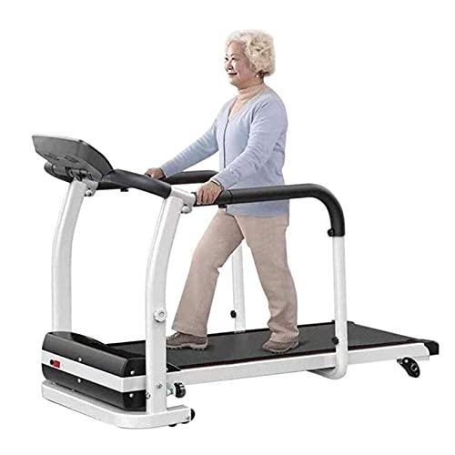 HULLSI Cinta De Correr Eléctrica Plegable con Monitor De Frecuencia Cardíaca, Máquina De Pasos para Personas Mayores para Uso Doméstico, Recuperación De Extremidades, 0.5-6Kmh, 2HP, 120Kg
