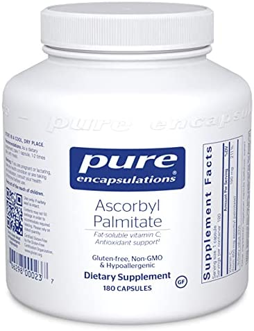 Pure Encapsulations - Ascorbyl Palmitate - Hypoallergenic Fat-Soluble Vitamin C Supplement - 180 Capsules