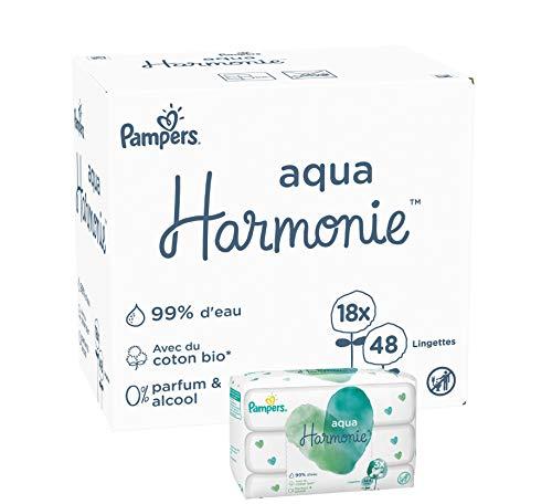 Pampers Harmonie Aqua 864 Reinigungstücher (6 x 3 x 48 Tücher)