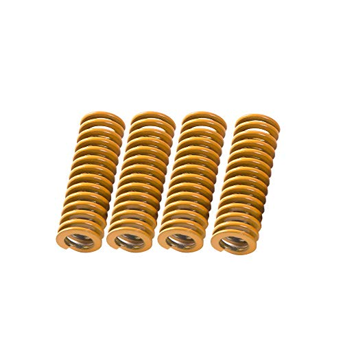 Aibecy Creality Impresora 3D Cama calentada Muelle Resortes Compresión Longitud 25 mm Diámetro interior 5 mm para Impresora 3D Extrusora DIY Accesorios Partes (paquete de 4 piezas)
