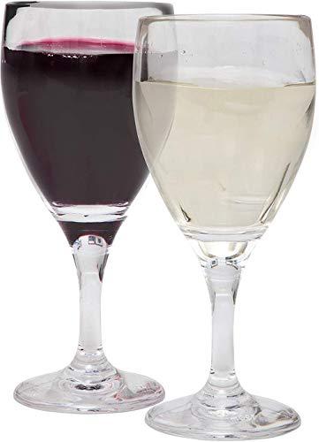 mejores botellas Copas de vino tinto Plástico Irrompible Reutilizable 190ml Juego de 6