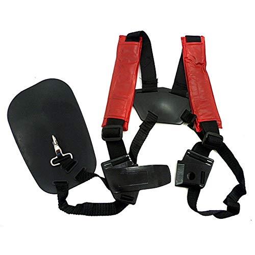 Huante Strimmer doble correa de arnés de hombro cinturón acolchado para cortador de cepillo Trimmer Gardden Pruner