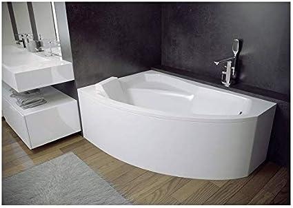 Azura Home Design Vasca Angolare Sinistro Rima 130 140 150 160 170 Cm Con Grembiule Dimensioni 140 Cm Amazon It Fai Da Te